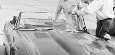"Jochen Rindt Aspern 1963: Training auf Jaguar ""E"", 3781 ccm (c) Erwin Jelinek/Technisches Museum Wien"