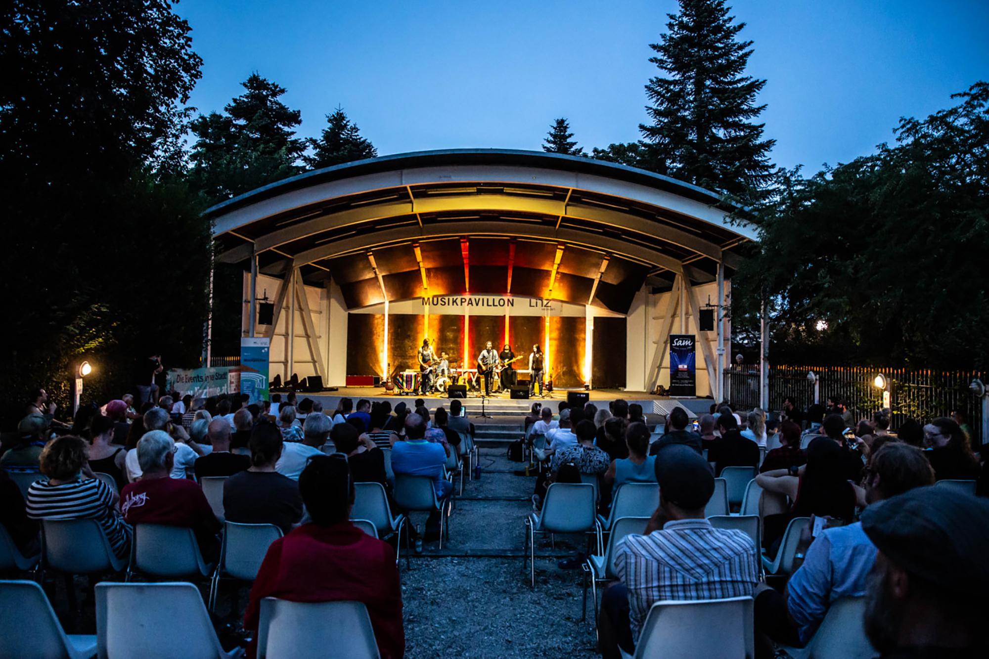 Musikpavillon im Donaupark