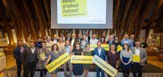 Die Gewinner des LandLuft Baukulturgemeinde-Preises und Sonderpreises 2021 (23.9.2021, Kuppelsaal TU Wien) Foto: eSeL.at - Lorenz Seidler